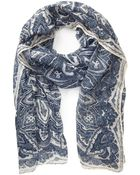 21men Sheer Paisley Print Scarf - Lyst