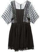 Nina Ricci Sheer Sleeves Dress - Lyst