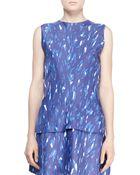 Balenciaga Printed Drape-Back Top - Lyst