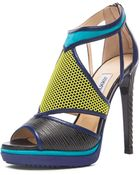 Jimmy Choo Lythe Leather Heels - Lyst