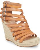 Vince Camuto Signature Dominicah Gladiator Wedge Sandals - Lyst