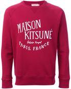 Maison Kitsuné Logo Sweatshirt - Lyst