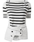Sacai Striped Sweater - Lyst