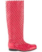 Comme des Garçons Perforated Knee Lenght Boots - Lyst