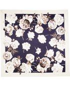 Brooks Brothers Floral Print Silk Chiffon Scarf - Lyst
