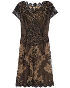 Oscar de la Renta Beaded Lace Dress - Lyst