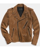 Coach Suede Motorcycle Jacket - Lyst