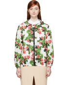 MSGM Green And Red Creeping Eyed Roses Toilet Paper Edition Hoodie - Lyst