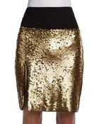 DKNY Sequined Skirt - Lyst