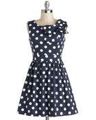 Ixia The Pennsylvania Polka Dress In Navy Dots - Lyst