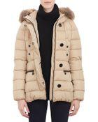 """Moncler Fur-Trim Hood Belted """"Gene"""" Puffer Jacket - Lyst"""