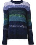 Proenza Schouler Knit Striped Sweater - Lyst