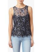 7 For All Mankind Lace Tank - Lyst