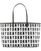 DKNY Logo Print Shopper - Black - Lyst