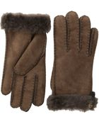 Ugg Tenney Glove With Leather Trim - Lyst