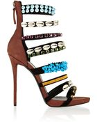 Giuseppe Zanotti Coline Embellished Suede Sandals - Lyst