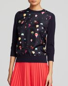 Kate Spade Balloon-Print Sweater - Lyst