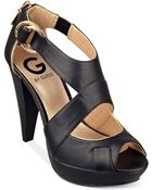 G by Guess Hallia Platform Sandals - Lyst