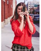 Free People Womens Turn The Wind V Neck Sweater - Lyst