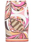 Emilio Pucci Printed Skirt - Lyst