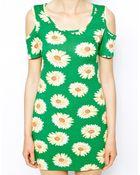 Ax Paris Cold Shoulder Daisy Dress - Lyst
