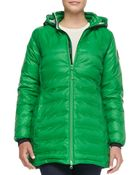 Canada Goose Camp Hooded Mid-Length Puffer Coat - Lyst