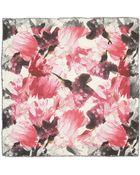 Lafayette 148 New York Florabella Printed Silk-Blend Scarf - Lyst