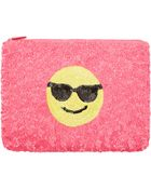 Santi Pink Smiley Face Sequined Pouch Bag - Lyst