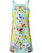 Piccione.piccione Printed Mini Dress - Lyst