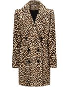 Carven Leopard Wool Printed Coat - Lyst