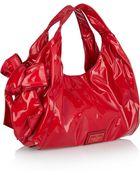 Valentino Bow-Embellished Patent-Leather Shoulder Bag - Lyst