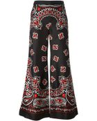 Moschino Paisley Flared Trousers - Lyst