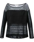Helmut Lang Linear Sweater - Lyst