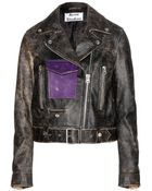 Acne Studios Saxe Leather Biker Jacket - Lyst
