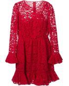 Dolce & Gabbana Floral Lace Ruffled Dress - Lyst