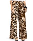 Ralph Lauren Lauren Picka Leopard Print Wide Leg Pants - Lyst