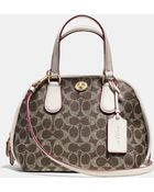 Coach Prince Street Mini Satchel In Signature Canvas - Lyst