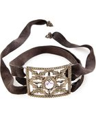 Armenta Rose Of France & Suede Cuff Bracelet With Diamonds - Lyst