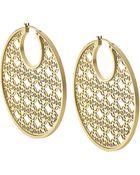 Michael Kors Gold-Tone Filigree Hoop Earrings - Lyst