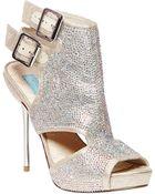 Betsey Johnson Rhinestone-Studded Platform Sandals - Lyst
