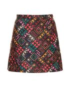 Topshop Quilt Triangle A-line Skirt - Lyst