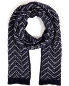 Missoni Cashmere Zigzag Knit Scarf - Lyst