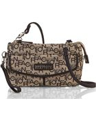 Kenneth Cole Reaction Natural & Black Monorail Mini Crossbody Bag - Lyst