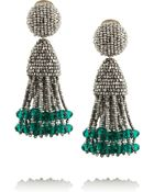 Oscar de la Renta Beaded Tassel Earrings - Lyst