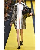 Carven Python Printed Leather Coat - Lyst
