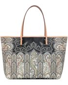 Etro Calcutta Printed Coated Canvas Tote Bag - Lyst