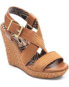 Jessica Simpson Catskill Wedge Sandals - Lyst