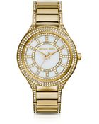 Michael Kors Mid-Size Golden Stainless Steel Kerry Three-Hand Glitz Watch - Lyst