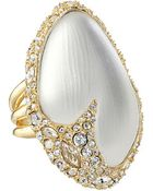 Alexis Bittar Crystal Encrusted Cocktail Ring - Lyst
