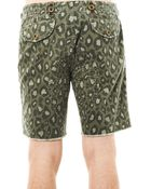 Michael Bastian Leopard Camouflageprint Shorts - Lyst